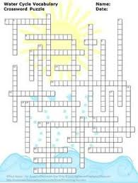 water cycle word search puzzle and graphic organizer cycle