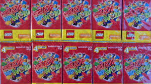 lego create the world booster card packs opening