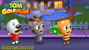 talking android talking tom gold run android gameplay cowboy tom vs talking hank