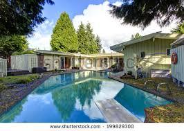 House With Swimming Pool Modern Villa Outdoor Swimming Pool Gazebo Stock Photo 370294127