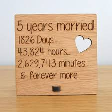 wood anniversary gifts wooden wedding anniversary plaque sign days hours minutes and