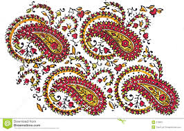traditional design indian traditional textile design stock illustration illustration