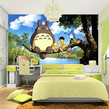 Kid Room Wallpaper by Aliexpress Com Buy Cute Japanese Anime Totoro Wall Mural Silk