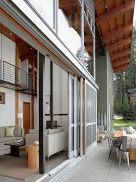 multiple sliding glass doors idaho lake house contemporary exterior san francisco by