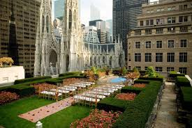 affordable wedding venues nyc rockefeller center rooftop gardens and rooftop wedding reception