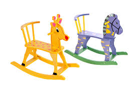 wooden rocking horse kid chair children baby animal saddle toy