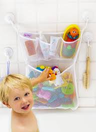 amazon com bath toy organizer the original tub cubby large amazon com bath toy organizer the original tub cubby large 14x20 quick dry bathtub mesh net massive baby toy storage bin 3 soap pockets 4x suction