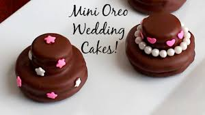 mini oreo wedding cookie cakes diy wedding favors youtube
