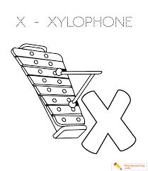 alphabet easy coloring xylophone kids