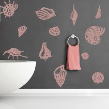sea shell set wall stickers beach wall art