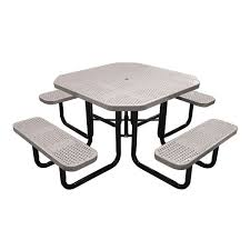 leisure craft picnic tables 46 octagonal perforated metal portable table