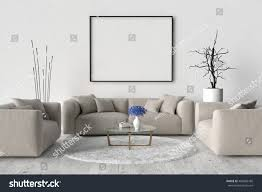 living room sofa two chairs table stock illustration 498466186
