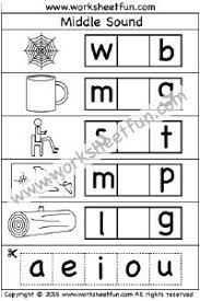 middle sounds worksheets vowel sounds word family activities