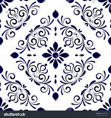 wallpaper baroque style damask floral background stock vector