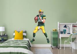 green bay packers helmet wall decal shop fathead for green bay aaron rodgers fathead