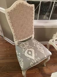 how to upholster the back of a dining chair using batting drop