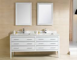 Vanities For Bathrooms by Adornus Camile 60 Inch Modern Double Sink Bathroom Vanity White Finish