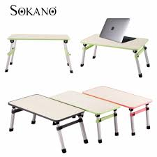sokano foldable laptop table adjustable portable notebook bed desk