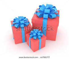 boxes with bows three gift boxes bows isolated on stock illustration 447661777