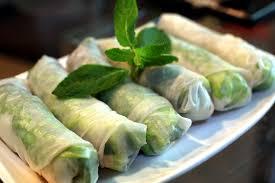 vietnamese spring rolls with salmon