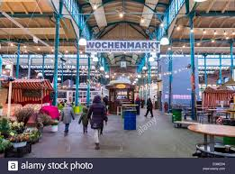 berlin germany shopping inside german grocery store at