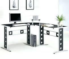 Glass Desk Office Depot L Glass Desk L Shaped Glass Desk Glass Computer Desk L Shaped