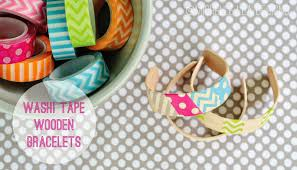 Washi Tape What Is It Washi Tape Wooden Bracelets