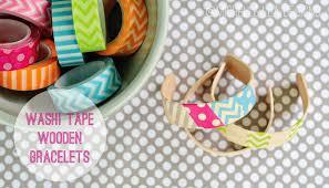 Washi Tape Designs by Washi Tape Wooden Bracelets