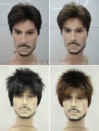 men hair weave pictures brown short menfolk man men male daily wear hair full wig wavy
