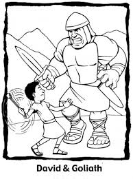awana free printable david and goliath coloring pages all