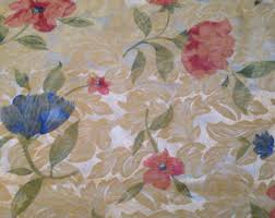 Shabby Chic Upholstery Fabric by Linen Fabric Shabby Chic Roses Natural Brown Rustic 100 Linen