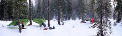 snow camping with hammocks exped usa
