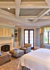 Light Blue Home Decor by Bedroom Cool And Classic White And Dark Accent Coffered Ceiling