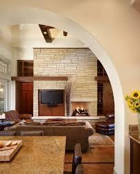 fireslate countertop living room craftsman with open floor plan