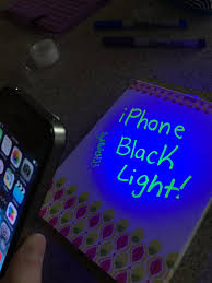 what can a black light detect iphone black light