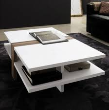 coffee table modern rectangular white coffee table with book