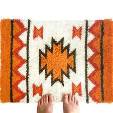 Hook Latch Rugs Vintage Hand Hooked Rug Latch Hook Tapestry Retro Handmade
