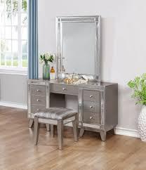Leighton Bedroom Set Ashley Furniture Leighton Metallic Mercury Vanity Desk And Stool From Coaster