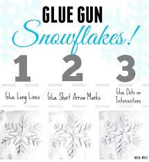 glue gun snowflakes muslin and merlot