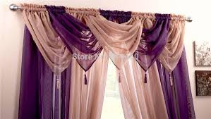 Swag Curtains With Valance Curtain Valances With Tassels Decorate The House With Beautiful