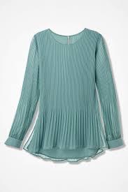 green chiffon blouse elysium pleated chiffon blouse coldwater creek