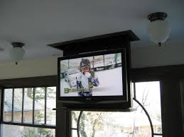 Swivel Ceiling Tv Mount by Televison Lift With Power Swivel