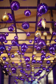 purple and gold ornament display purple how i thee
