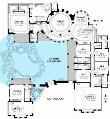 central courtyard house plans home design plan 36186tx luxury with central courtyard house