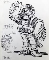 image toy concept figure sketch duck in flight suit sm jpg