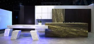 piqu launch monolith a full stone kitchen island with mitred edge
