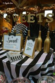 black white and gold birthday decorations image