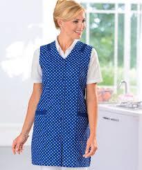 tabliers blouse et torchons de cuisine lot de 2 tabliers 3 4 uni et imprimé bleu imprime femme damart