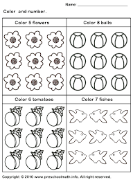 free preschool coloring number worksheets