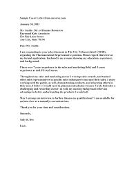 100 cover letter pharmaceutical sales cover letter for